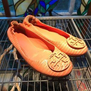 Tory Burch Patent Leather Reva Flats GUC